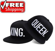 QUEEN and KING Letter Baseball Snapback Cap Hats Couples Hip Hop Caps adjustable
