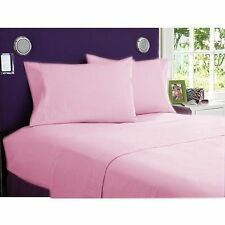 Pink Solid & Stripe Scala Bedding Sheet Set/Duvet/Fitted/Bed Skirt UK All Sizes