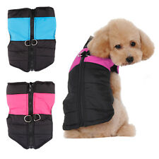 Pet Dog Puppy Jacket Winter Coat Quilted Padded Puffer Cat Hoodie Clothes