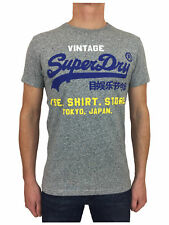 Superdry Mens Shirt Shop Tri Tee T-Shirt in Peppered Grey Grit
