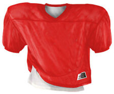 ALLESON 707R Reversible Football Jersey Youth Red White Porthole Mesh