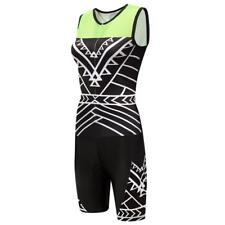Women's Sleeveless Cycling Skinsuit Triathlon Trisuit with Front Zipper Jumpsuit