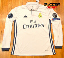 Real Madrid Home White Jersey 16/17 Long Sleeve Champions League