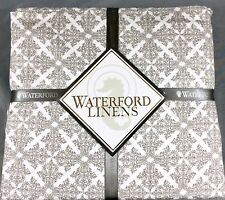 New Waterford Camryn Sheet Set 100% Cotton 400TC xDEEP Full, Queen or King Taupe