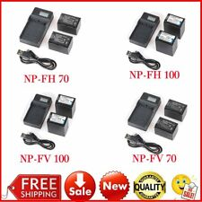 2X NP-FH70/NP-FH100/NP-FV70/NP-FV100 Battery + LCD Charger For Sony Camera LOT L