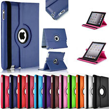 "360° Rotating Leather Case Smart Cover / Screen Protector For iPad 9.7"" 2017"