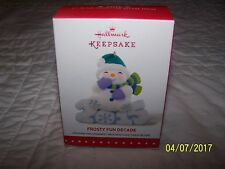 Hallmark Keepsake frosty fun decade 6th in series christmas tree ornament NEW