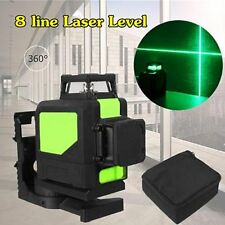 Laser Level 8 Line Green Self Leveling Outdoor 360° Rotary Cross Measure Tool LT