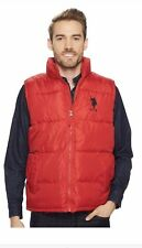 New U.S. POLO ASSN. Mens Puffy Red Large XL Vest Jacket