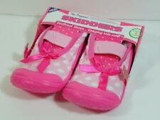New Girl's SKIDDERS Pink Polka Dot Mary Janes Shoes, Sz  8 ~ 24 Months