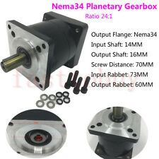24:1 Ratio Nema34 Planetary Reducer input 14mm for  86mm Stepper Motor Gearhead