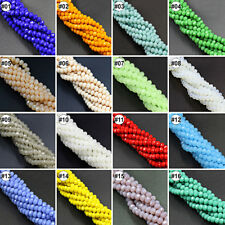 72pcs Various Color Synthetic Crystal Gemstone Flat Loose Beads Strand 6x8mm