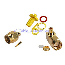 SMA or RP-SMA MALE or FEMALE Straight or Angled RG402 RG405 cable RF Connector