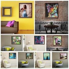 Mult Canvas Prints Set Modern Art Picture Wall Room Decor Unframed +Brush+Screw