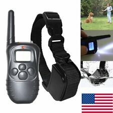 Waterproof Remote LCD 100LV Electric Pet Dog Training Shock Collar + 4 Battery