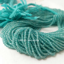 "Natural Apatite Gemstone Beads Rondelle Faceted Cut 13"" Strand Top Quality"