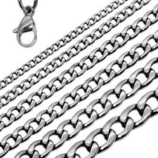 Chain Necklace or Bracelet Link Unisex Jewelry Small or Massive Stainless Steel