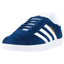 adidas Gazelle W Womens Blue Suede Casual Trainers Lace-up Genuine Shoes