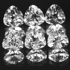 Natural White Topaz Trillion Cut 3mm To 8mm Calibrated Size Loose Gemstone