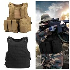 Enkeeo Outdoor Sport Hunting Training Molle Tactical Vest Modular Plate Carrier
