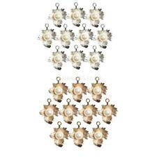 10pc Leaves Charms Pendants Imitation Pearl Beads fit Necklace Bracelet Jewelry