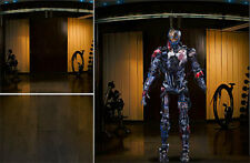 POSTER BACKDROP/SET~AVENGERS~MEET ULTRON FOR 1/6 HOT TOYS FIGURE MARK 1 MMS292