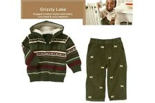 NWT Gymboree Grizzly Lake 2pc Sweater Zip-Up Hoodie and Pant Set