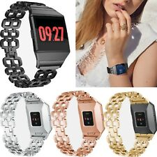 Stainless Steel Accessory Watch Band Wrist Strap Link Bracelet For Fitbit ionic