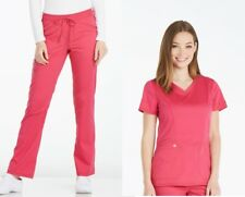 Dickies Essence Scrubs Hot Pink Color Set Top DK803 Pant DK106 All Sizes-NWT