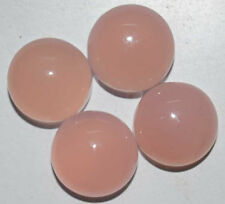 Natural Pink Chalcedony Round Cabochon 5 mm - 10 mm Calibrated Loose Gemstone