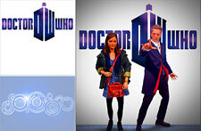 POSTER BACKDROP/SET~DOCTOR WHO~LOGO FOR 1/6 FIGURE DALEK CLARA OSWALD CYBERMAN