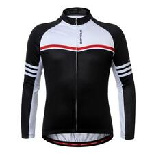 Cycling Long Sleeve Breathable Sportwear Unisex Black Riding Jersey Camping