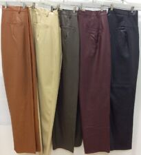 MEN'S BAGAZIO FAUX LEATHER PLEATED PANTS SLACKS FASHION COLORS NEW!!