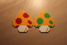 Mario Mushroom Pixel Art Bead Sprites from Super Mario Bros for NES