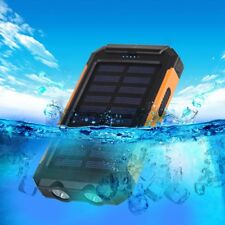 Waterproof Solar Power Bank 20000mAh Dual USB Li-Polymer Solar Battery Charger