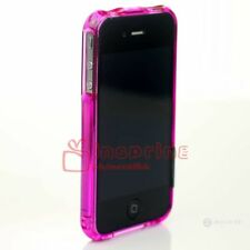 Electroplating Plastic Crystal Bumper Glossy Frame Hard Cover For iPhone 4 4S