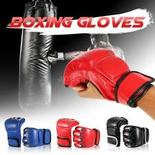 2x Boxing Gloves Striking Sparring Glove Half Mitts Fist Training Protector A3U5