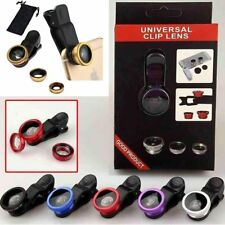 Fish Eye+Macro Clip+Wide Angle Camera Lens 3 in1 For Samsung Cell Phone iPhone