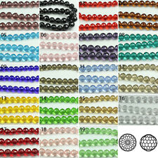 72pcs Various Transparent Synthetic Crystal Gemstone Round Faceted Bead 8mm