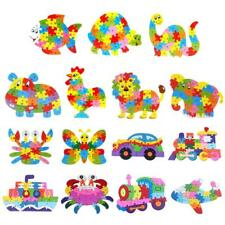 16 PATTERNS ANIMAL/TRAFFIC THEMED ABC ALPHABET JIGSAW PUZZLES KIDS WOODEN TOY