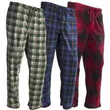 New Mens Flannel Fleece Pajama Pant Lounge Pants Size S M L XL