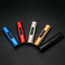 USB Smoke Cigar Lighters Cylindrical Windproof Mini Electric Smoking Lighter MU