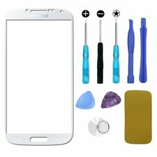 Replacement Lens Front Outer Screen Glass for Samsung Galaxy S4 White Repair Kit