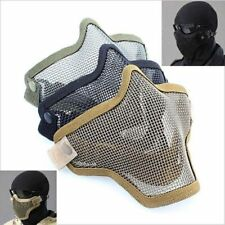 Mask Mesh Half Steel Face Guard Protect For Paintball Airsoft Game Hunting