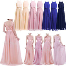 Women Chiffon Formal Party Wedding Bridesmaid Prom Ball Gown Cocktail Long Dress