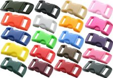 "Wholesale 3/8"" Contoured Mini Side Release Plastic Paracord Buckles - 25 PACK"