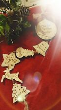 Personalised Family Wooden Christmas Decoration, Our 1st Christmas Together