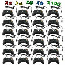 LOT Black Wired USB Game Pad Controller For Microsoft Xbox 360 PC Windows FG