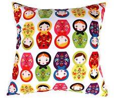 LITTLE KUKLA BABUSHKA RUSSIAN DOLL SCATTER THROW CUSHION COVER DECORATIVE PILLOW
