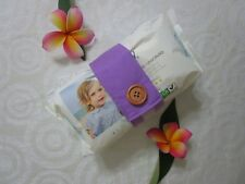 Nappy strap-Keeps nappies and wipes together-Lavender-100% cotton or polycotton.